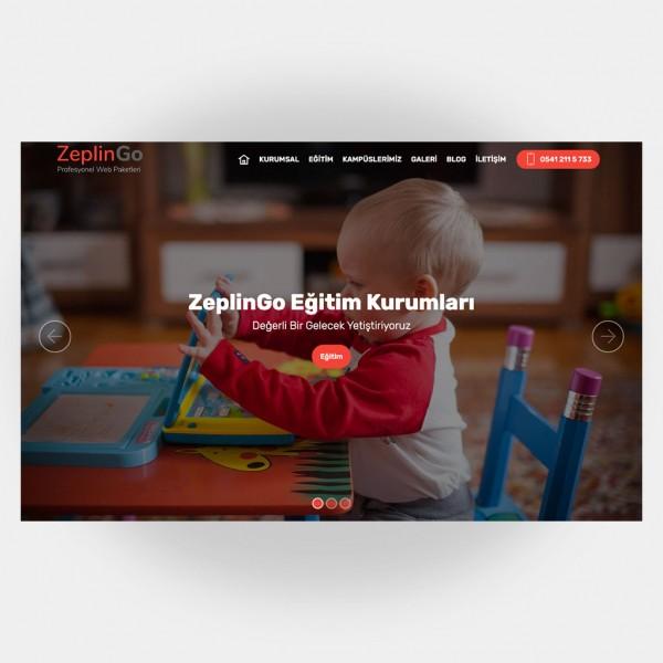 Eğitim Okul Web Sitesi V4