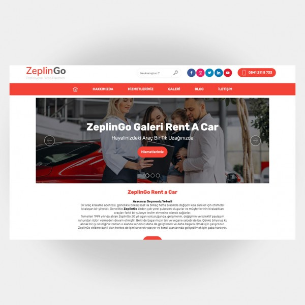 Galeri Araç Kiralama Web Sitesi V3