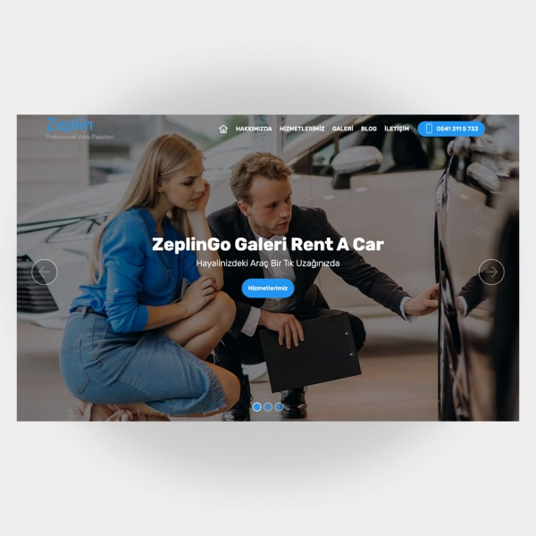 Galeri Araç Kiralama Web Sitesi V4