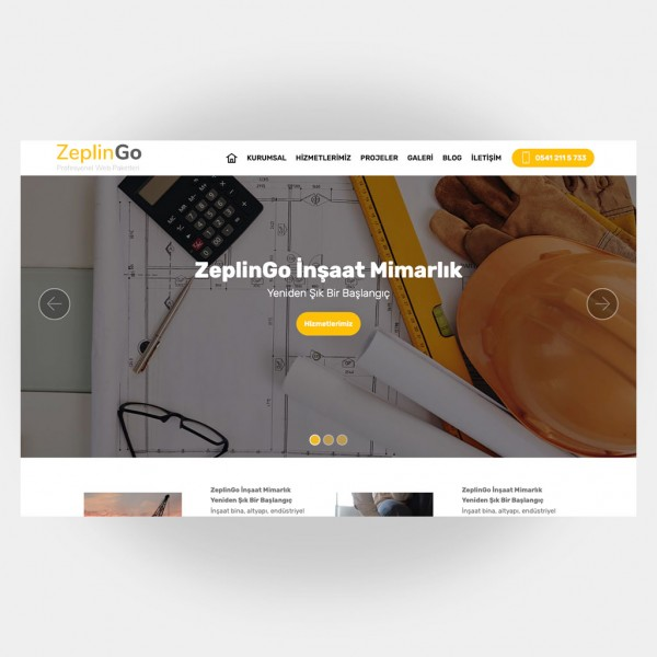 İnşaat Mimarlık Web Sitesi V5