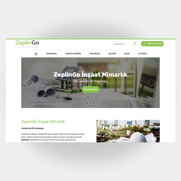 İnşaat Mimarlık Web Sitesi V6